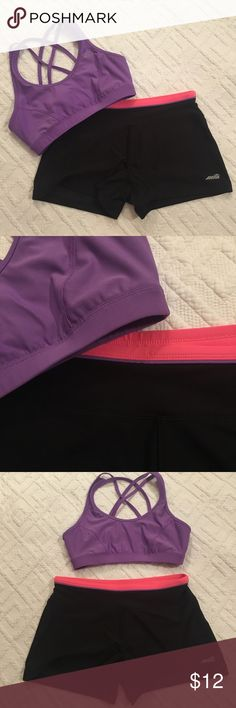 Purple sports bra Purple Avis workout sports bra. Size small. Very comfy and stretchy. Great to workout in! Matching spandex shorts sold separately in my closet! Go check them out!! Avia Intimates & Sleepwear Bras