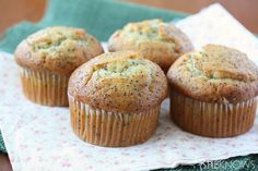 Almond poppy seed muffins, just made these, and they are delicious