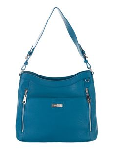 Grace Adele Handbag ~ Giselle Ocean $80 ~ Zippered hobo with detachable shoulder strap.  Great bag for concealed weapons.  www.styles2love.us