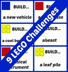 9 Printable LEGO challenges - a creative activity for builders! #legogames children stuff, lego for kids, printabl lego, lego activities for kids, lego challenges, creative challenges for kids, kid activities for boys, fun, creativ activ