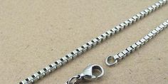 20pcs 550mm 2mm 316L stainless steel 2mm box chain by aliyafang, $27.00