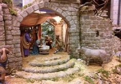álbumes de fotos Christmas Nativity Scene, Christmas Villages, Diorama, Outdoor Structures, Crafts, Reyes, Art, Tela, Montages