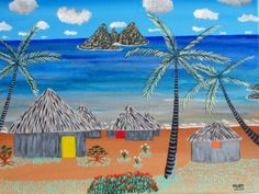 tableau peinture acrylique toile 100 % COTON 40µ *30 CM FINITIONS VERNIS PIèCE UNIQUE Signé - 5073385
