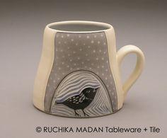 Bird & Vine Mug Ruchika Madan by ruchika on Etsy