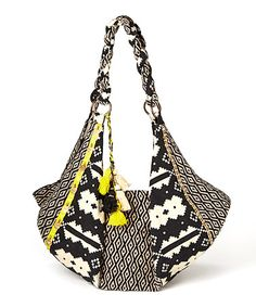 Look what I found on #zulily! Black & Cream Tribal Shoulder Bag by BretBoho #zulilyfinds
