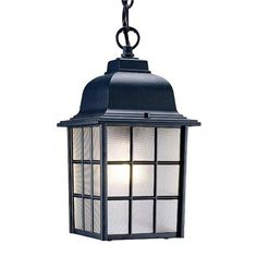 Acclaim Lighting Nautica Matte Black Traditional Textured Glass Lantern Pendant Light at Lowe's. You can almost hear the waves lapping at the dock… Sturdy sides create a square lantern with the sea in its blood. A shapely top completes Hanging Lantern Lights, Lantern Light Fixture, Lantern Pendant Lighting, Outdoor Hanging Lanterns, Hanging Light Fixtures, Outdoor Light Fixtures, Outdoor Lighting, Light Bulb, Exterior Lighting