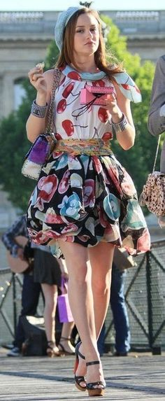 Blair Waldorf in Paris -- Moschino Resort 2010 RTW Print Cherry Dress. oen of my favorites. I looooved the Paris episodes
