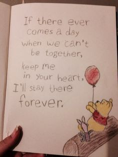 I am kinda proud of this one it's pretty simple. How do you not love Winnie … I am kinda proud of this one it's pretty simple. How do you not love Winnie The Pooh? I drew this like a year or so ago I think? (yeah it could be better I know. Love Drawing Images, Cute Drawings Of Love, Drawing Ideas, Simple Disney Drawings, Cute Drawings Tumblr, Card Drawing, Bff Quotes, Best Friend Quotes, Disney Quotes