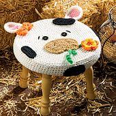 Farm Animal Stools: Cow by Alessandra Hayden
