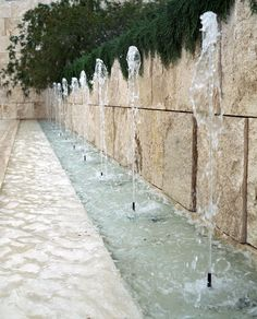 Getty Center Los Angeles Travertine Stone Fountain