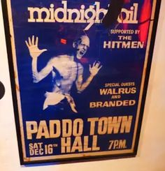 Midnight Oil: MIDNIGHT OIL - 16 Dec 1978 - Paddington Town Hall,... Band Posters, Town Hall, Concert Posters, Album Covers, Fandoms, Oil, Photo And Video, Music, Musica