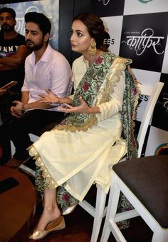 Actors Dia Mirza and Mohit Raina during promotion of their web-series 'Kaafir' in Amritsar, on June - Dia Mirza and Mohit Raina Pakistani Dress Design, Pakistani Outfits, Indian Outfits, Designer Salwar Kameez, Simple Kurti Designs, Kurta Designs Women, Indian Fashion Dresses, Dress Indian Style, Beautiful Dress Designs