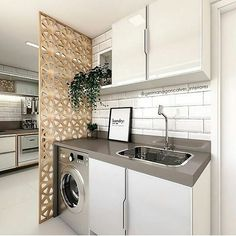 Best Home & Kitchen Kitchen Room Design, Laundry Room Design, Home Room Design, Kitchen Interior, House Design, Laundry Nook, Laundry Room Storage, Outdoor Laundry Rooms, Kitchen Modular