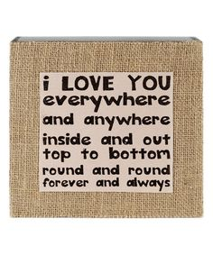 Another great find on #zulily! 'Love You Everywhere' Wall Box Sign #zulilyfinds