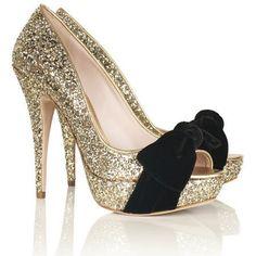 Glitter BOW Heels