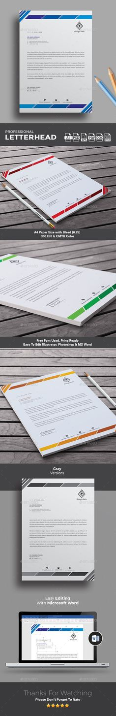 Best 25+ Company letterhead ideas on Pinterest Creative brands - free business stationery templates for word