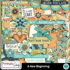A New Beginning Confirmation Page, Dont Look Back, Paint Shop, Photoshop Elements, New Beginnings, Photo Book, Digital Scrapbooking, Design Elements, Kit