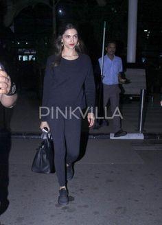 Deepika Padukone is all smiles at the airport | PINKVILLA