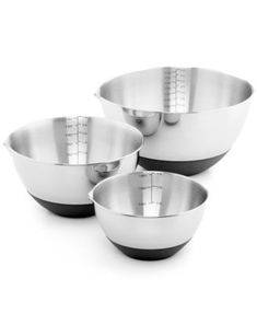 Martha Stewart Collection Set of 3 Non-Skid Mixing Bowls with Measurements, Only at Macy's    $39.99
