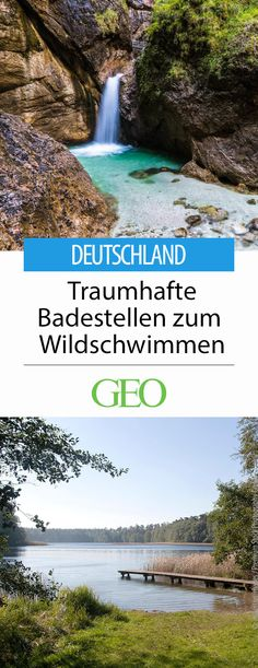 Die besten Reiseziele in Deutschland Bathing lakes and rivers for wild swimming in Germany. Dreamlike spots for swimming in the nature No desire for c. Europa Tour, Beau Site, Camping Hacks, Land Scape, Natural Beauty, Bathing, Travel Destinations, Most Beautiful, Beautiful Pictures