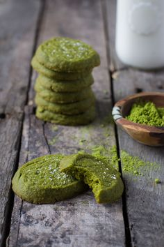 These Matcha Cookies are super easy to make and a great twist on the classic sugar cookie!