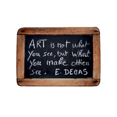 Artist quotes are always so inspirational and motivating to me.