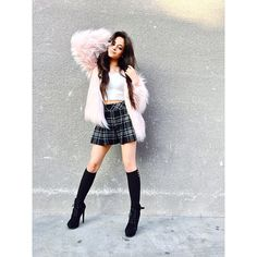 It's pretty clear Camila Cabello is a risk taker when it comes to her style. The Fifth Harmony singer may only be but she is a total. Skirt Outfits, Cute Outfits, Stage Outfits, Under Your Spell, Camila And Lauren, Fifth Harmony, Queen, Woman Crush, American Apparel