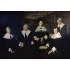 Women Regents of the Haarlem Almshouse 1664 Frans Hals ca (1581-1666Dutch) Musuem Franz Hals Haarlem Holland Canvas Art - Frans Hals (18 x 24)