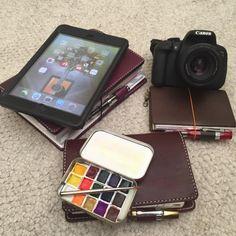 planners, ipad, ipad mini, canon t5i, chic sparrow, midori, hobonichi, altoids art palette