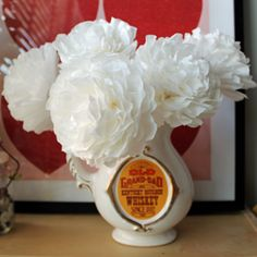 Create simple flowers out of coffee filters. #craftgawker