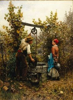 Daniel Ridgway Knight (American, 1839-1924). The Well, 1880. Oil on canvas, 39 5/16 x 28 15/16 in. (99.9 x 73.5 cm). Brooklyn Museum, Gift of Mr. and Mrs. William E. S. Griswold, 41.980.62