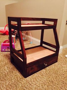 American girl doll bunk bed with trundle custom home made DIY