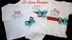 Personalized..SIBLING SWEETNESS....4Pc Custom by LilLoveyBoutique, $92.95