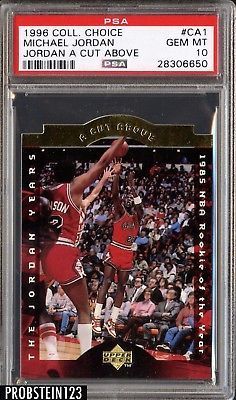 1996 Collectors Choice Jordan A Cut Above Ca1 Michael