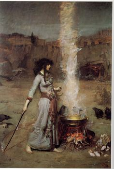 The Magic Circle by John William Waterhouse.