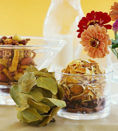 [ DIY: Fall Scented Potpourri Balls ] Adhere your favorite herb or potpourri mix to craft spheres for fall texture, color and aroma in your home. ~from better homes and garden, bng.com