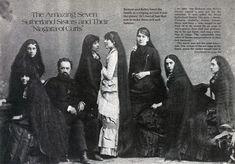 The Seven Sutherland Sisters and Their 36½, Feet of Hair. Follow the link for the very interesting story.