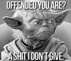 OFFENDED YOU ARE, A SHIT I DON'T GIVE More