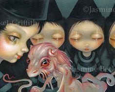 Witchy sœurs : Le Pet halloween dragon fée art par strangeling