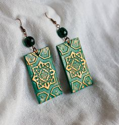 Polymer clay earrings by TheCraftyBeeOnline via Etsy.