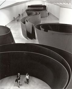 Richard Serra, American minimalist sculptor and video artist known for working with large-scale assemblies of sheet metal. Serra was involved in the Process art movement.