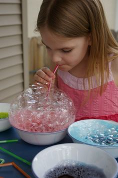 Bubble Painting: Simply have the kiddos blow, and blow and blow until they have a huge pile of bubbles.  Next press the paper gently into the bubbles allowing them to pop on the paper.  Repeat the process with as many colors as the kids want.  The end result is amazing.  If you have not tried this with your kiddos yet you need to.