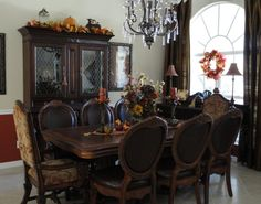 """""""FALLOWEEN"""" !, Had some fun decorating for fall and Halloween. More rooms to come!, Dining Rooms Design"""