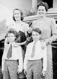 Mowlana Hazar Imam, his brother Prince Amyn Mohammed, with Princess Tajuddawllah Aly Khan and Mata Salamat, 1941
