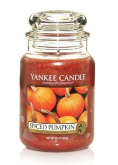 Spiced Pumpkin is my favorite scent of candle.  It makes my house smell wonderful.