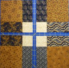 "New Ideas for a Very Old Block       The sample block is made with  4 1/2"" squares but you can make it  with any size square you want.   C..."