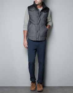 DENIM VEST - Jackets - Man - ZARA