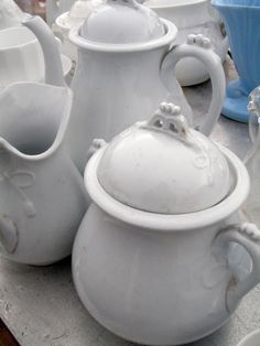 . . . Cabin & Cottage : The Elephant's Trunk Flea~~~~Look are gorgeous these are with their hint of blue~~~