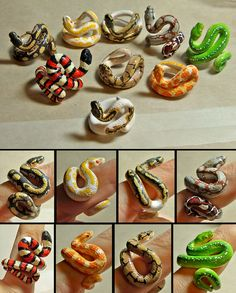souffle and premo mix Clay Art Projects, Polymer Clay Projects, Resin Crafts, Fimo Ring, Polymer Clay Ring, Diy Clay Rings, Cute Clay, Clay Animals, Sculpture Clay