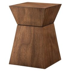 "Bedside? Dimensions: 19.0 "" H x 13.0 "" W x 13.0 "" D  Target: Threshold™ Accent Table Hourglass Wood"
